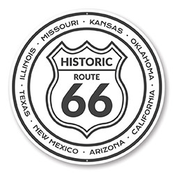 Historic Route 66 States Novelty Sign