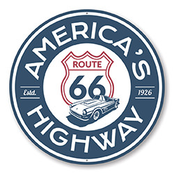 America's Highway Established 1926 Route 66 Sign