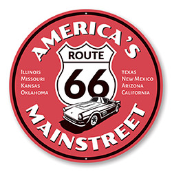 America's Mainstreet Route 66 Sign
