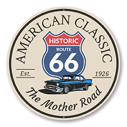 American Classic The Mother Road Route 66 Sign