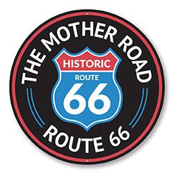 The Mother Road Historic Route 66 Sign