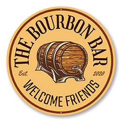 The Bourbon Bar Welcome Sign