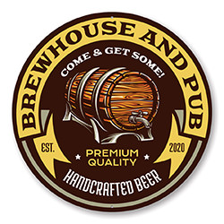 Brew House and Pub Estd. Year Sign