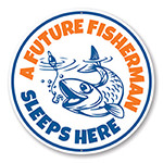 A Future Fisherman Sleeps Here Kid's Room Sign