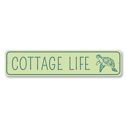Cottage Life, Turtle Marine Life, Beach House Sign, Ocean Life Sign