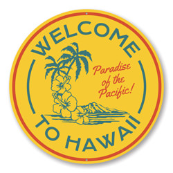 Welcome to Hawaii, Beach Sign, Beach Lover Gift, Beach Housae Welcome Sign