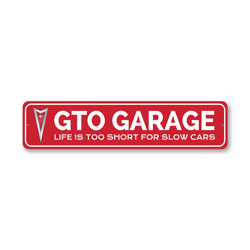 GTO Garage Fast Car Sign, Decorative Garage Wall Decor, Sign, Popular Car Sign