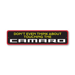 Don't Touch My Camaro, Decorative Garage Wall Decor, Sign, Popular Car Sign