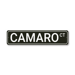 Camaro CT, Decorative Garage Wall Decor, Sign, Popular Car Sign