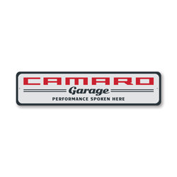 Camaro Garage Wall Decor, Sign, Popular Car Sign, Man Cave Sign