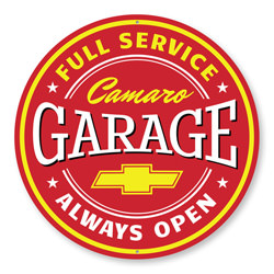 Camaro Garage Always Open, Garage Wall Decor, Sign, Popular Car Sign