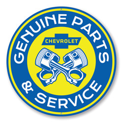 Chevy Genuine Parts & Service, Garage Wall Decor, Sign, Popular Car Sign