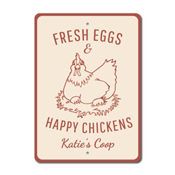 Happy Chicken Sign, Farm Sign, Barn Sign