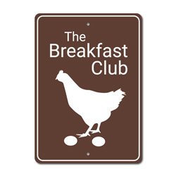 Breakfast Club Chicken Coop Sign, Farm Sign, Barn Sign