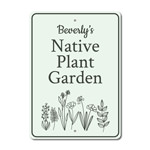 Plant Garden Sign, Backyard Garden Sign, Gift for Gardener