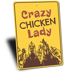 Crazy Chicken Lady Sign, Funny Farm Sign, Barn Sign