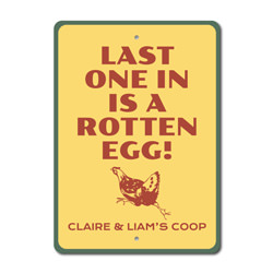 Rotten Egg Sign, Idiom Humor Sign, Barn Sign, Chicken Coop Sign