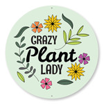 Crazy Plant Lady Sign, Backyard Sign, Garden Sign, Gift for Gardener