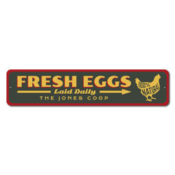 Fresh Eggs Laid Daily Sign, Chicken Coop Sign, Farm Sign, Barn Sign