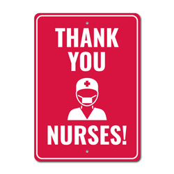 Nurse Thank You Sign, Frontliner Appreciation Sign, Salute to Health Workers Sign