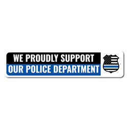 Police Supporter Sign, Frontliner Appreciation Sign, Salute to Officers Sign