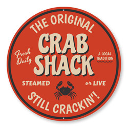 The Original Crab Shack Sign, Restaurant Decor, Seafood Aluminum Sign