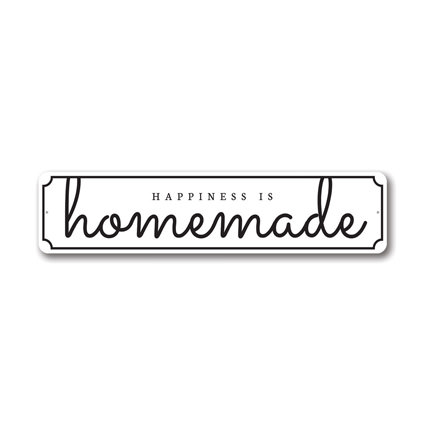 Happiness is Homemade Kitchen Sign, Home Decor, Kitchen Decorative Aluminum Sign
