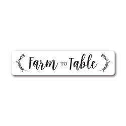 Farm to Table Sign, Farm Fresh Sign, Kitchen Decorative Aluminum Sign