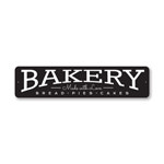Made with Love Bakery Sign, Baker Gift Sign, Kitchen Aluminum Sign