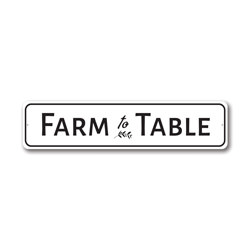 Farm to Table Kitchen Sign, Fresh Produce Aluminum Sign