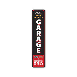 Dad's Full Service Garage Corvettes Only Chevy Sign, Decorative Garage Sign, Novelty Car Sign