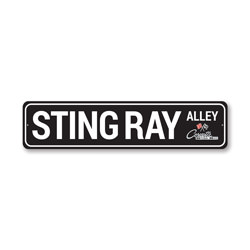 Sting Ray Alley Chevy Corvette Sign, Decorative Garage Sign, Novelty Car Sign