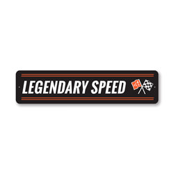 Legendary Speed Chevy Corvette Sign, Decorative Garage Sign, Novelty Car Sign