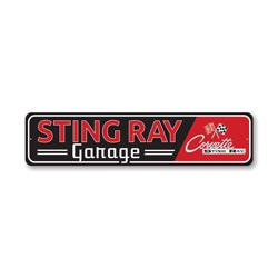 Sting Rat Garage Chevy Corvette Sign, Decorative Garage Sign, Novelty Car Sign