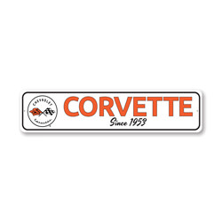 Corvette Since 1953 Chevy Sign, Decorative Garage Sign, Novelty Car Sign