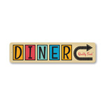 Diner This Way Sign, Diner Sign