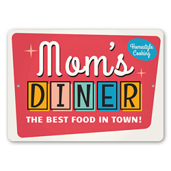 Mom's Diner Sign, Kitchen Sign