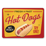 Dad's Specialty Hot Dogs Sign, Kitchen Sign