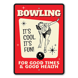 Bowling Sign, Bowler Gift Sign