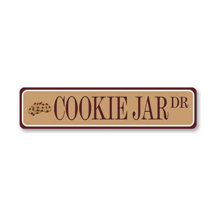 Cookie Jar Drive, Pantry Decorative Sign, Kitchen Sign
