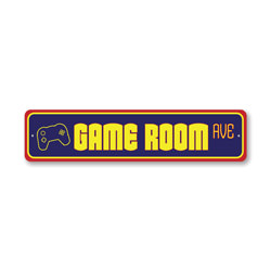 Game Room Avenue, Gameroom Decor, Home Sign