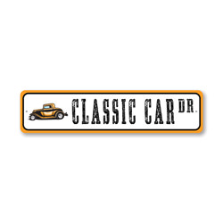 Classic Car Drive, Novelty car Sign, Car-lover Gift Sign