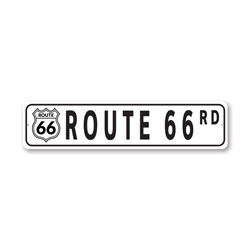 Route 66 Road Destination Sign, Historical Road Sign