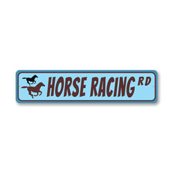 Horse Racing Road, Horse-lover Gift Sign, Farmhouse Sign