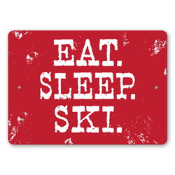 Eat Sleep Ski, Ski Bum Sign, Ski Lodge Decor