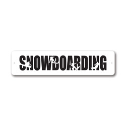 Snowboarding, Sports Sign, Ski Lodge Sign