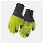 Giro Merino Gloves Grey & Wild Lime