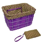 Electra Basket Liner - Purple and Green Ovals