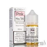 Pink Lemonade Ns by Element Nic Salt E-Liquid
