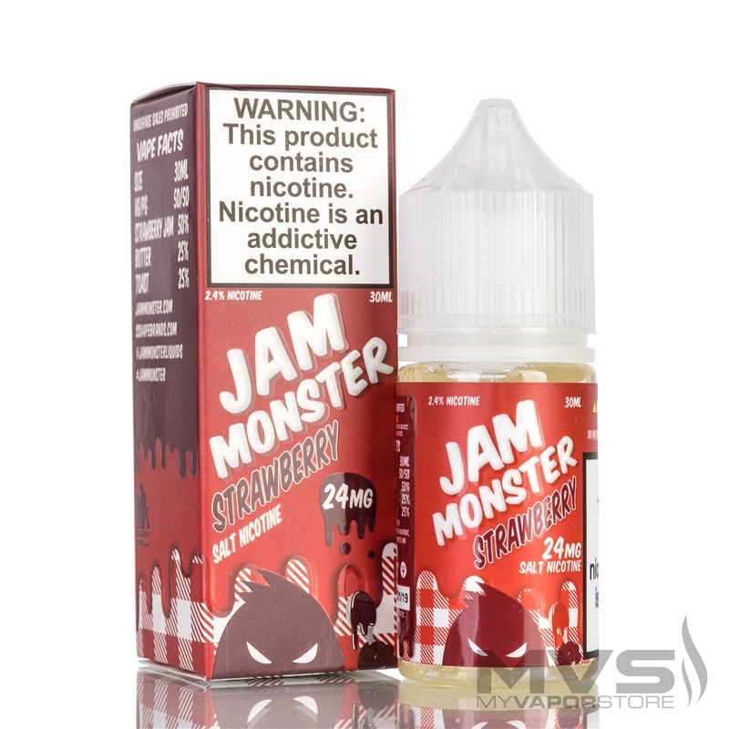 Strawberry by Jam Monster Nic Salt eJuice